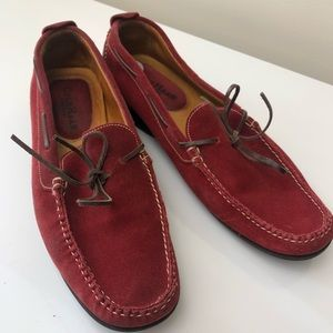 Cole Haan Red Suede Loafers Size 7.5